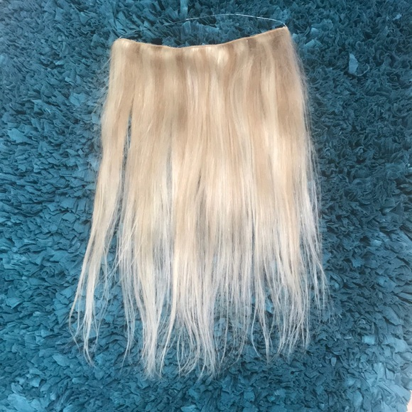 Accessories Remy Halo Hair Extensions Clip On Blonde Poshmark